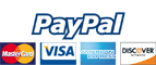 PayPal logo and cards accepted